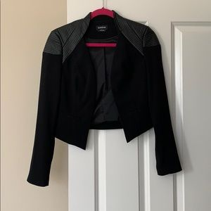 Black Bebe Jacket with Faux Leather Detail Size S